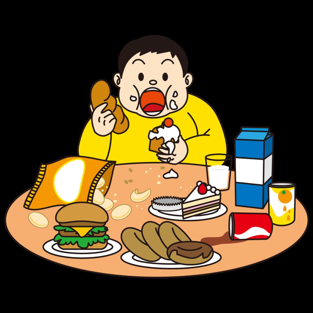 食べすぎ太る