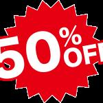 50%off